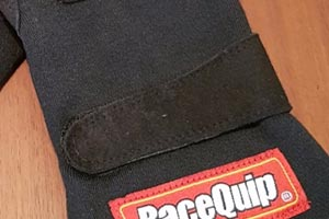 racing gloves with velcro strap