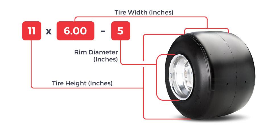 go-kart tire sizes