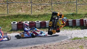 can go-karts flip