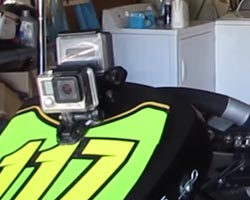 gopro mounted on go-kart nose cone