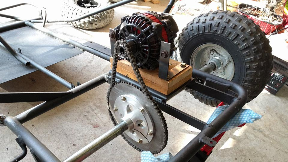 how to tighten a go-kart chain