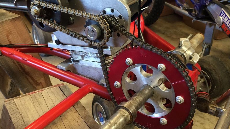 jackshaft setup for go-karts