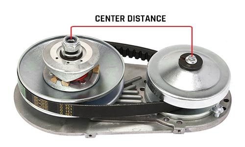 center distance go-kart torque converter