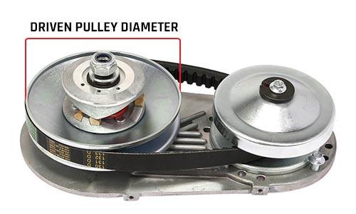 driven pulley diameter go-kart torque converter