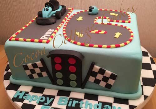 go-kart birthday cake