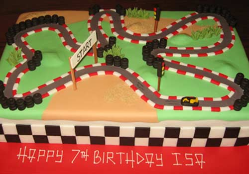 Terrific 12 Creative Go Kart Birthday Cake Ideas Gokartguide Funny Birthday Cards Online Inifofree Goldxyz