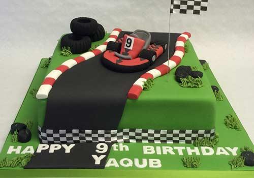 go-kart race cake