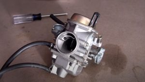 how to fix a go-kart carburetor that is leaking gas