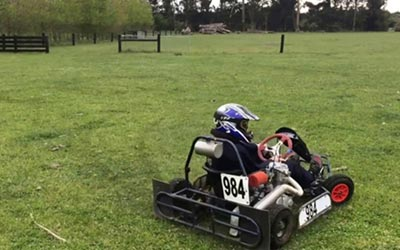 go-kart on private property