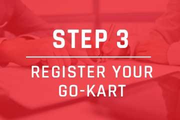 register your go-kart