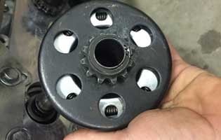 remove clutch from go-kart