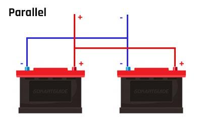 go-kart battery in parallel