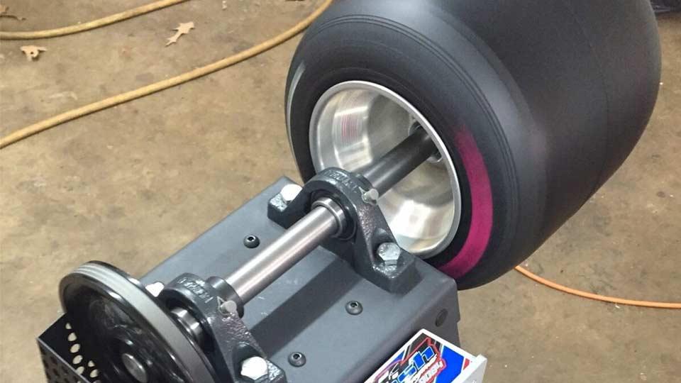 go-kart tire resurfacer