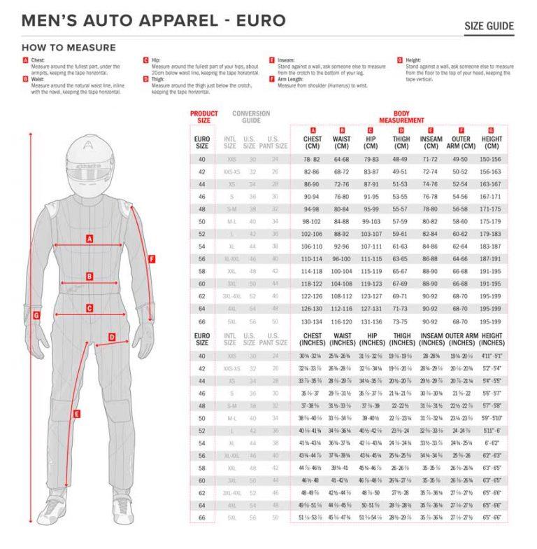 alpinestars suit size chart go karts