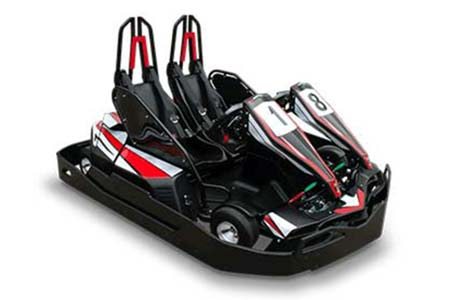 2-seater electric racing go-kart