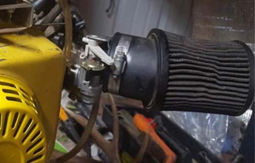clogged air filter go kart