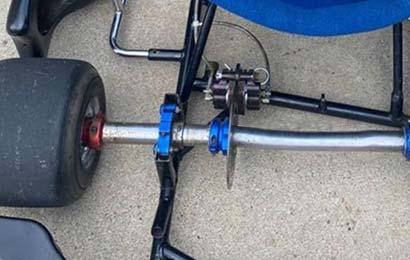 deformed go-kart axle