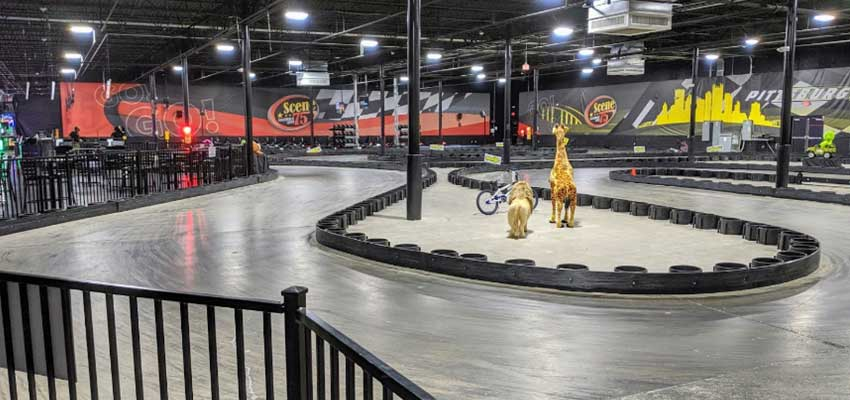Scene75 Entertainment Center go karting