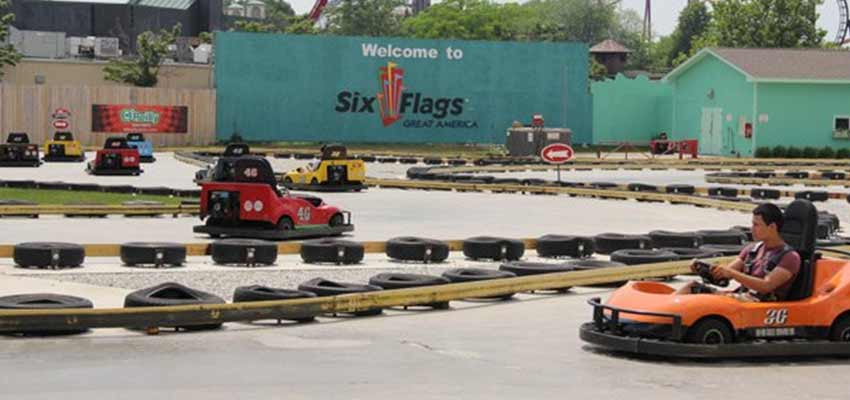 san antonio six flags go kart racing