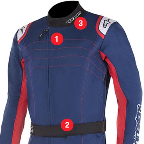 Alpinestars KMX-9 V2 Kart Suit comfort