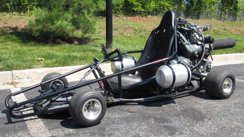 jet-powered go-karts