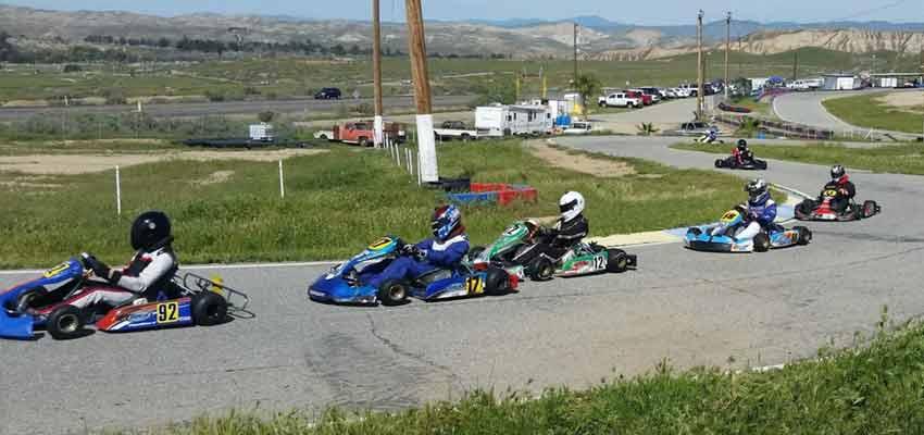 Bakersfield go-kart racing track in california