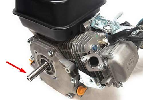 clutch on go-kart engine crankshaft