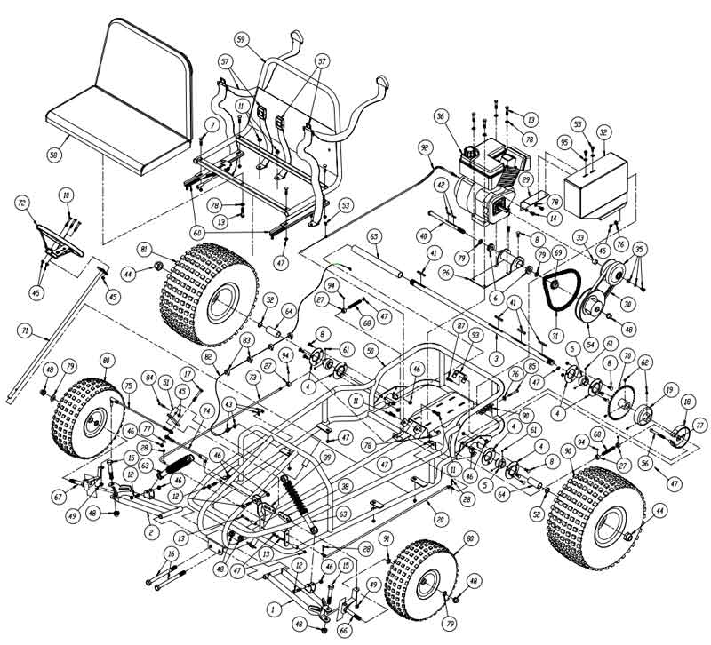 Yerf Dog 3002 Parts illustration