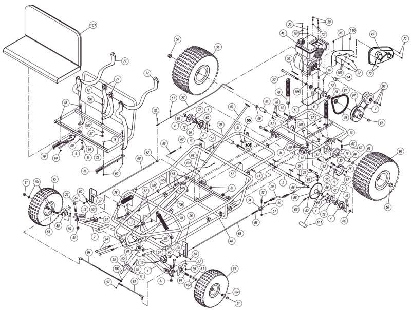 Yerf Dog 3202 Parts List Illustration
