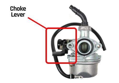 go-kart carburetor choke lever