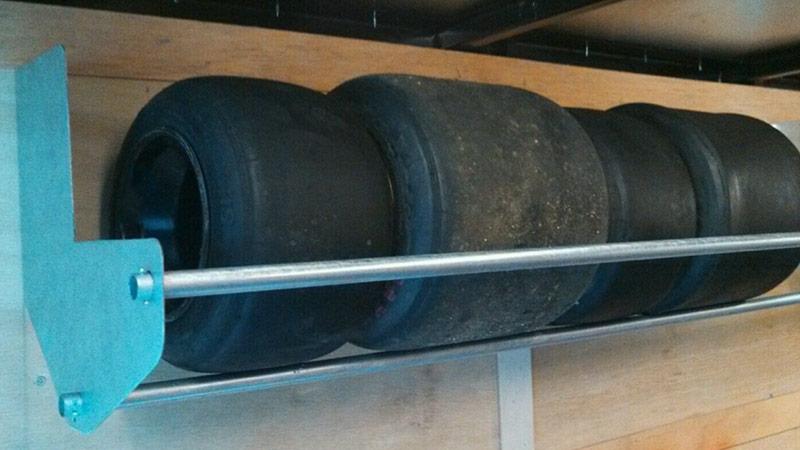 go-kart tire racks