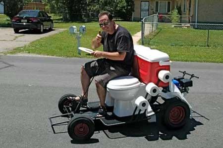 toilet go-kart