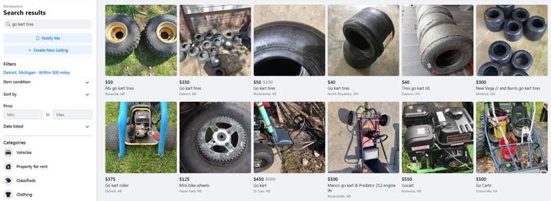 buying go-kart parts on facebook marketplace