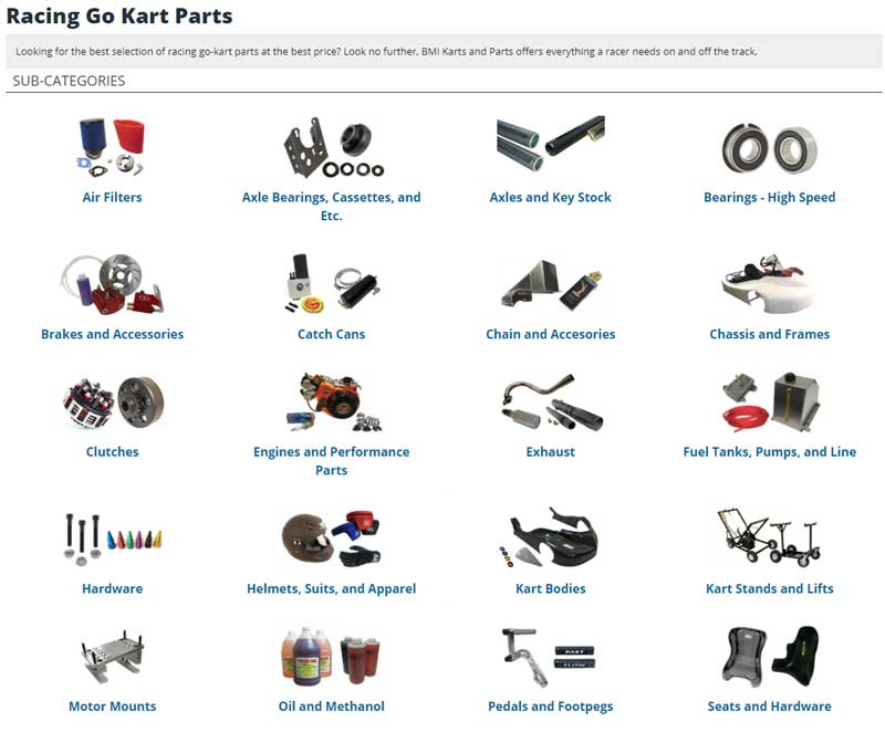 buying go-kart parts from online retailers