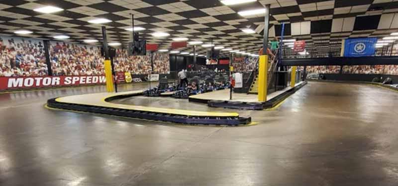 Tulsa's Incredible Pizza Company go kart racing
